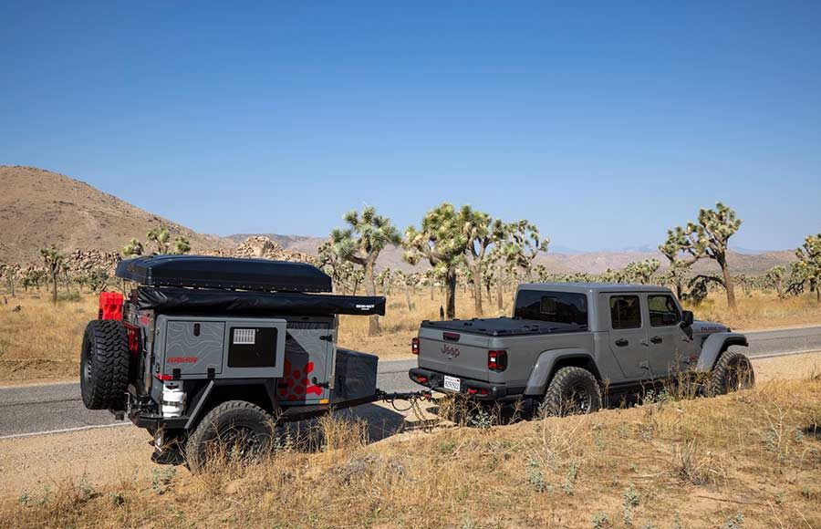 overlanding with a trailer