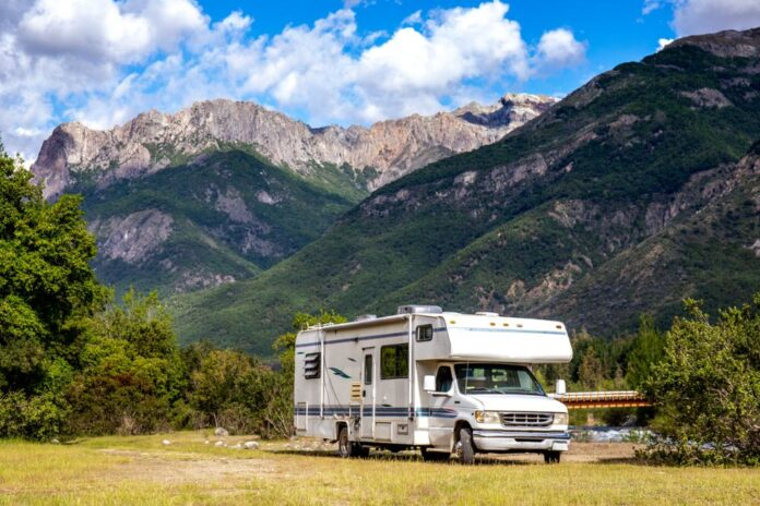 RV in the mountians