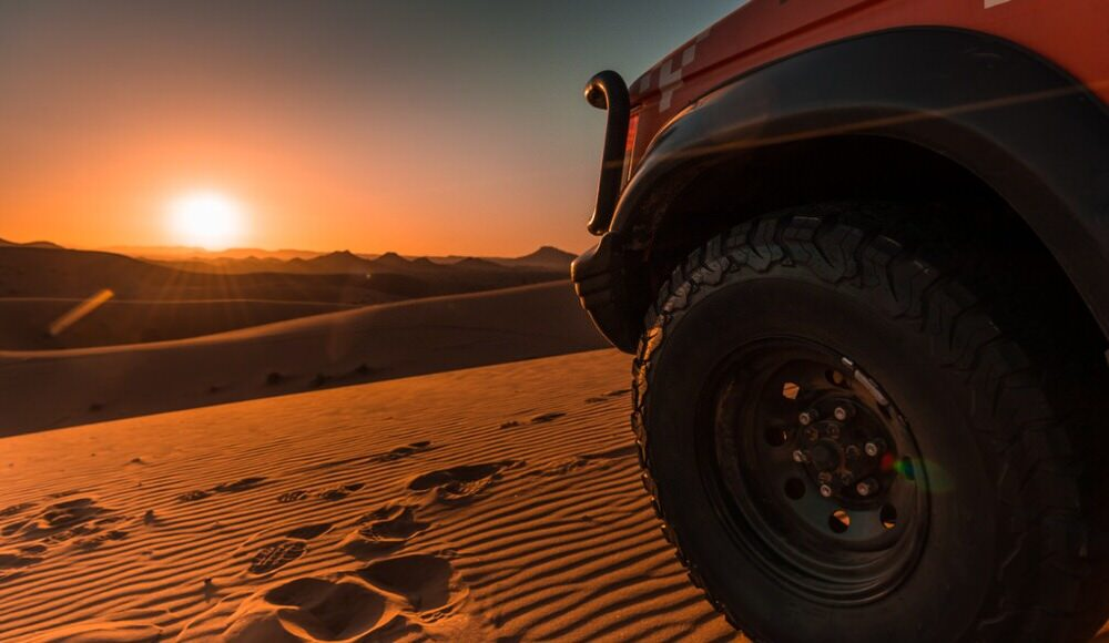 4x4 in the sand