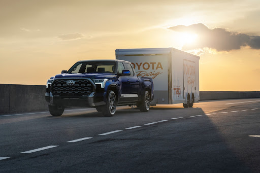 New Toyota Tundra Towing a trailer