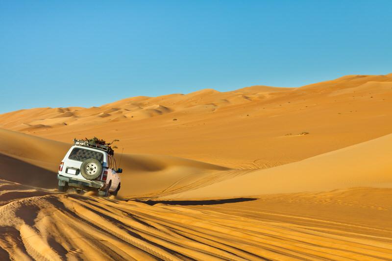 Sahara desert safari in a caravan
