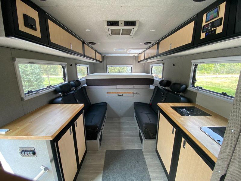 Inside of the overland camper