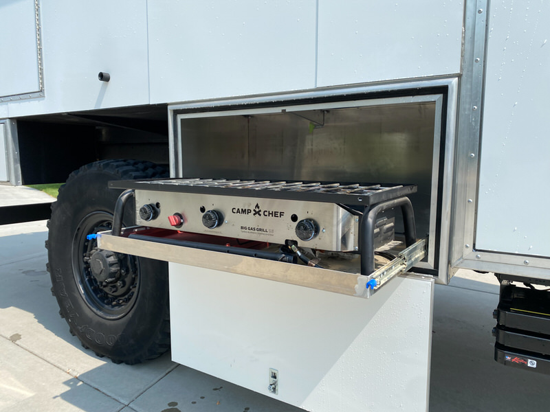 Grill as part of Adrenalin Industries Rig