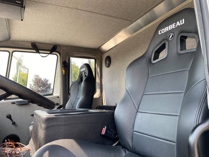 Driver seat of Adrenalin Industries Rig